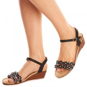 Sandale lejere cu platforma joasa Andra nero