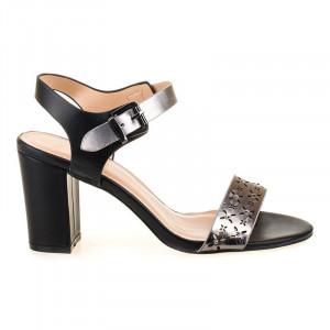 Sandale office cu toc Amalia negru