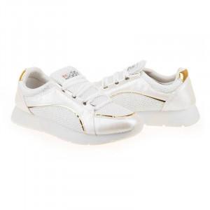 Sneakers trendy Lilia alb