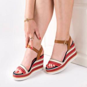 Sandale cu platforma chic Amalia