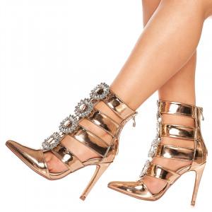 Sandale cu toc Sophia bronze