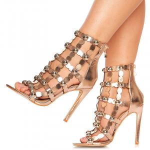 Sandale cu toc Francisca bronze