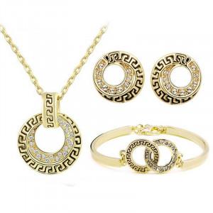 Colier cu pandativ bijuterie eleganta Reina Alejandra in set de colier cercei si bratara