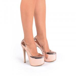 Pantofi cu platforma bronze Alma