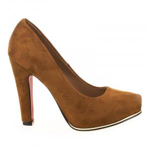 Pantofi cu platforma din velur Sonia