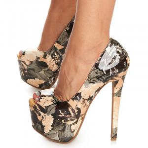 Pantofi cu platforma si toc inalt Carletta
