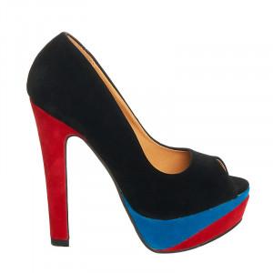 Pantofi cu platforma si toc inalt Salma