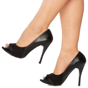 Pantofi cu toc inalt peep toe Lisa blk