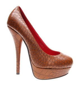 Pantofi de dama camel Snake