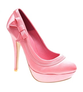 Pantofi de dama coral satin Dinner in Town