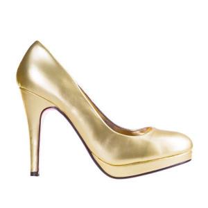Pantofi Dunya gold