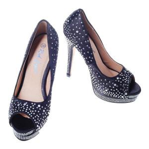 Pantofi negri decupati Belle