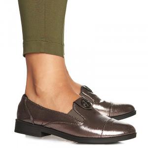 Pantofi office casual Camelia gri