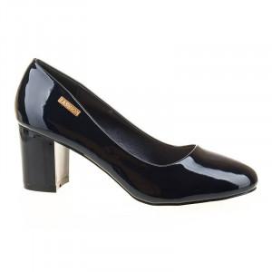 Pantofi office chic Lilia albastru inchis