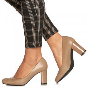 Pantofi office cu toc mediu gros Angelica