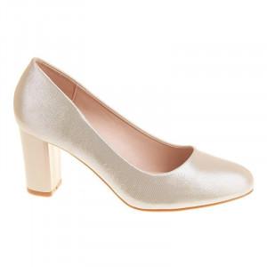Pantofi office cu toc mediu Layla oro