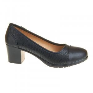 Pantofi office cu toc mic confortabil Carla