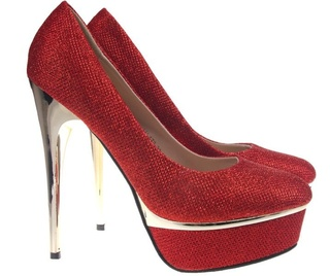 Pantofi rosii cu platforma Goldie
