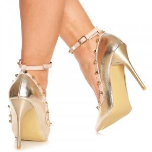 Pantofi stiletto cu toc inalt Angeline