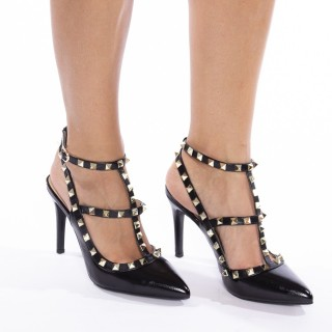 Pantofi stiletto cu toc inalt si tinte Carmina