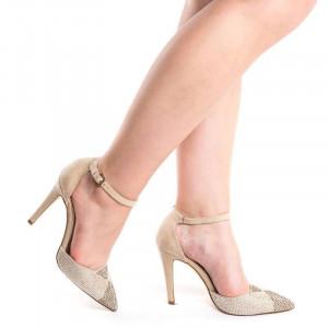Pantofi stiletto decupati Ana maria nude