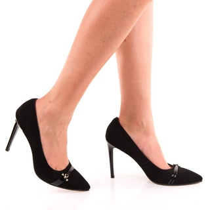 Pantofi Stiletto din piele intoarsa Camelia