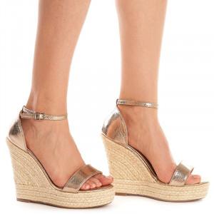 Sandale Aurii cu Platforma Sarita