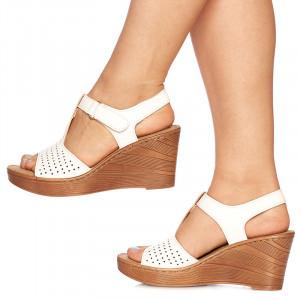 Sandale cu platforma Giulietta alb