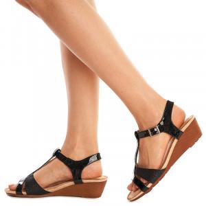 Sandale cu Platforma Joasa Amara Nero