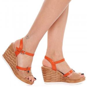 Sandale cu platforma Olivia arancia