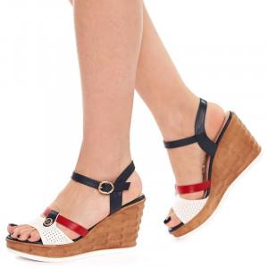 Sandale cu platforma Olivia rosso