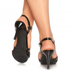 Sandale cu toc mediu Lolita negru