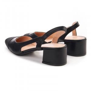 Sandale cu toc mic elegante Martina negru