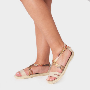 Sandale Dama, AVA, Crem