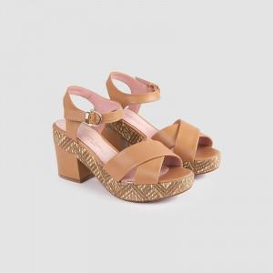 Sandale dama, COLET, Beige