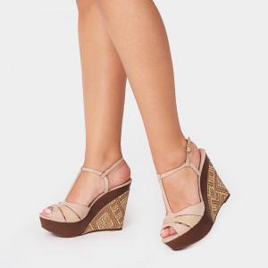Sandale dama, ELESA, Beige
