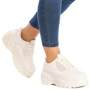 Sneakers dama Chloe alb