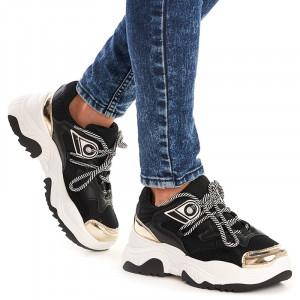 Sneakers dama trendy Sofia negru