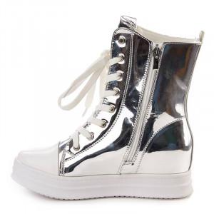 Sneakers inalti metalic Salma arginto