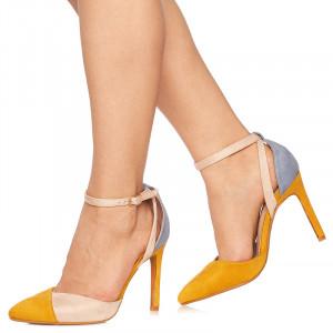 Pantofi stiletto cu toc inalt Guidita