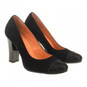 Pantofi din piele naturala intoarsa Amalia