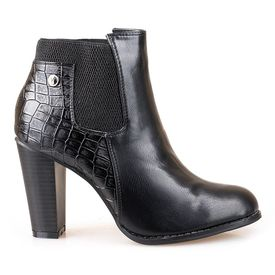 Botine cu toc office Letitia blk