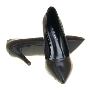 Panofi stiletto cu toc mediu Amira negru
