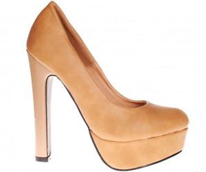 Pantofi camel cu platforma Dione