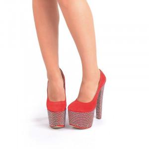 Pantofi cu platforma red Mia