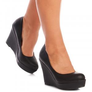 Pantofi cu talpa ortopedica comoda Paris negru