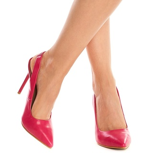 Pantofi cu toc inalt stiletto decupat Theresa roz