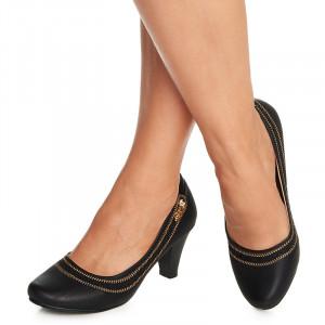 Pantofi dama office cu toc mediu Adonica