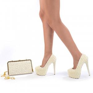 Pantofi de mireasa cu poseta inclusa Amalia