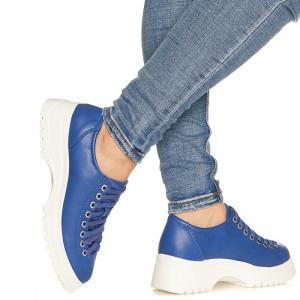 Pantofi sport cu talpa usoara din spuma Maria albastru